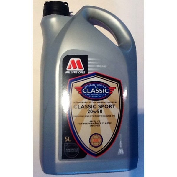 5l classic sport 20w50 semi synthetic engine oil upb uk for Classic motor oil 20w50